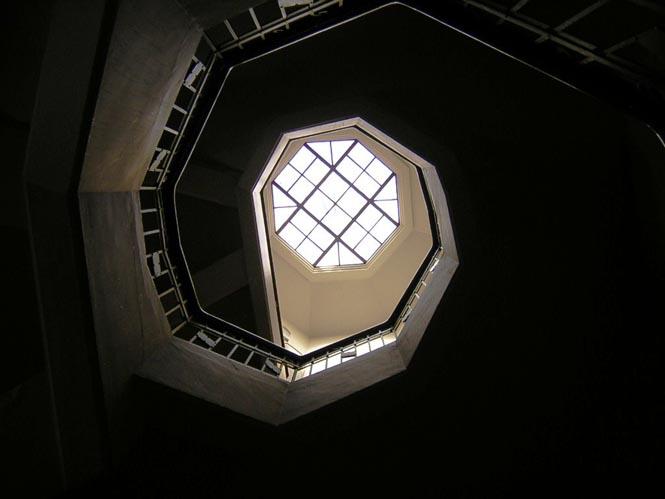 Spiral staircase in the medical school of Universidad de Antioquia, Medellín, Colombia.