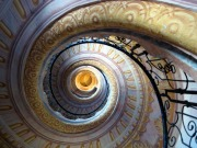The Baroque spiral staircase of the Melk Abbey, Lower Austria.
