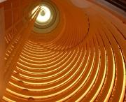 Atrium of the 33-story Shanghai Grand Hyatt, China.